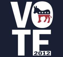 Vote Democrat 2012 Shirt One Piece - Long Sleeve