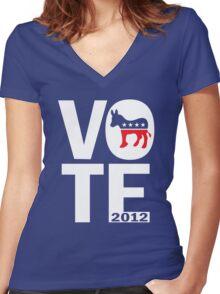 Vote Democrat 2012 Shirt Women's Fitted V-Neck T-Shirt