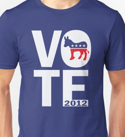 Vote Democrat 2012 Shirt Unisex T-Shirt