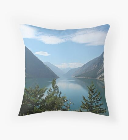 Mountain canyon at Seton Lake Throw Pillow