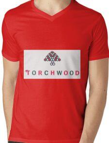 Christmas style Torchwood logo  Mens V-Neck T-Shirt
