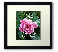 """Jesus, in You I am made beautiful"" by Carter L. Shepard Framed Print"