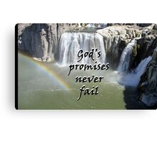 """God's promises never fail."" by Carter L. Shepard Canvas Print"