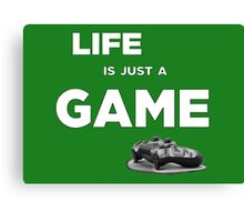 Life is just a game, ps4 camo pad popart 2 Canvas Print