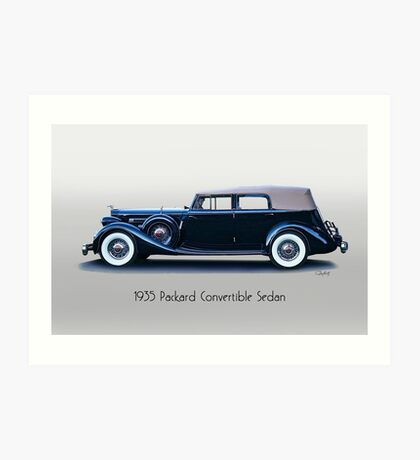 1935 Packard Convertible Sedan w Title Art Print