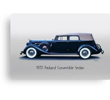 1935 Packard Convertible Sedan w Title Canvas Print