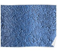 Blue abstract texture Poster