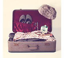 Vintage Suitcase  Photographic Print