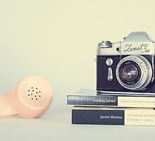 Vintage Camera and Retro Telephone  by Andreka