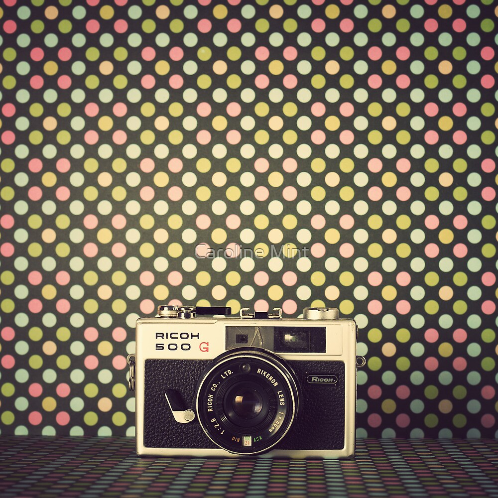 Retro Camera  by Caroline Mint