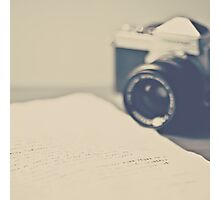 Film Camera  an Love Letter  Photographic Print