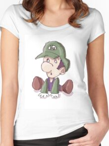 Baby Luigi Women's Fitted Scoop T-Shirt