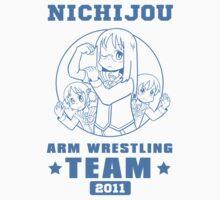 Nichijou Arm Wrestling Team - Blue Baby Tee