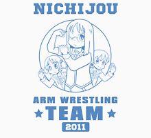 Nichijou Arm Wrestling Team - Blue Men's Baseball ¾ T-Shirt
