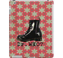 Retro pattern, Dr. Who? 2 iPad Case/Skin