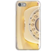 Retro Yellow Telephone  iPhone Case/Skin