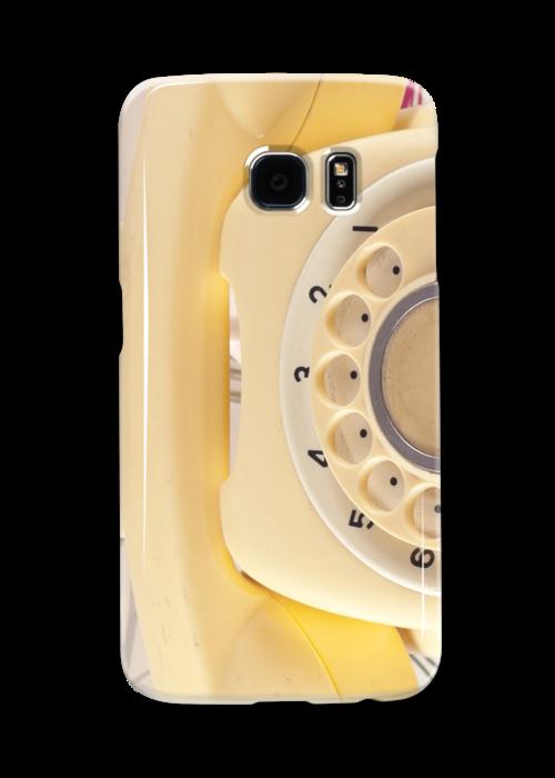 Retro Yellow Telephone  by Caroline Mint