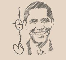 Obama Sketch 2012 Shirt Unisex T-Shirt