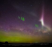 Aurora Australia, Picket Fence and Proton Arc by Odille Esmonde-Morgan