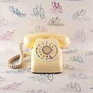 Retro Yellow Telephone  by Andreka