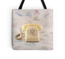 Retro Yellow Telephone  Tote Bag