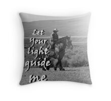 """Let Your light guide me"" by Carter L. Shepard Throw Pillow"