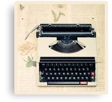Retro Typewriter Canvas Print