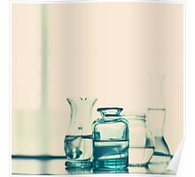 Glass Bottles with Water  Poster