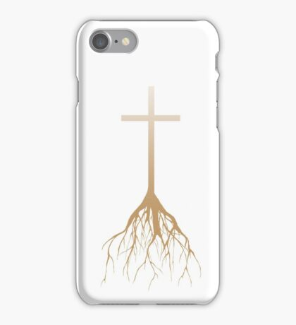 ROOTED FAITH (FADED TAN) iPhone Case/Skin