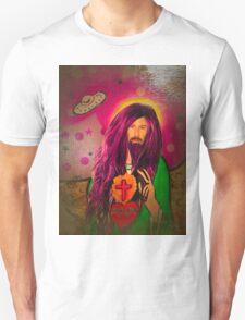 Keanu Jesus Antique Oil Unisex T-Shirt