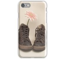 Converse and Pink Flower  iPhone Case/Skin