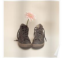 Converse and Pink Flower  Poster