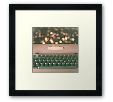 Typewriter and Magic Lights  Framed Print