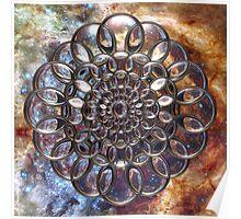 Cosmic Lens Flower II Poster