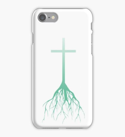 ROOTED FAITH (FADED GREEN) iPhone Case/Skin