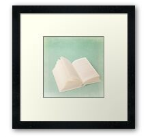Harry Potter Book on Blue Texture  Framed Print