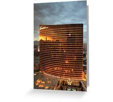 Las Vegas Strip Reflection Greeting Card
