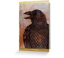 Talking Raven Greeting Card