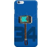 Syndergaard's Hammer (w/ Orange K) iPhone Case/Skin