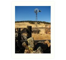 Abandoned Wind Mill and Farm, Telegraph City, CA 2012 Art Print