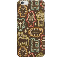 Monsters and robots. iPhone Case/Skin