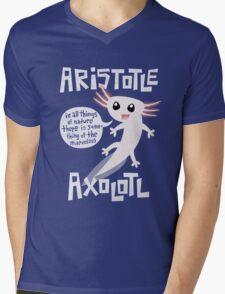 Aristotle Axolotl Mens V-Neck T-Shirt