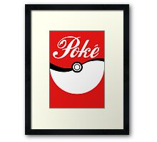 Poké [ball] Framed Print