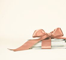 Vintage and Romantic Letters envelop in a Pink Ribbon  by Andreka