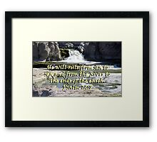 """Psalm 72:8"" by Carter L. Shepard Framed Print"