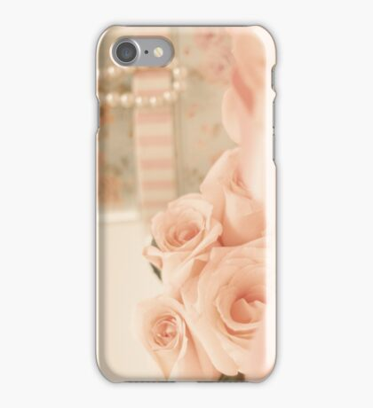 Pink Roses and Pearls  iPhone Case/Skin