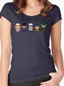 Chibi-Fi Gatchaman Women's Fitted Scoop T-Shirt