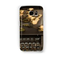 Typewriter, Tea and Dried Flowers  Samsung Galaxy Case/Skin