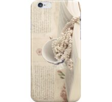 Vintage Still Life with Pearls and Book  iPhone Case/Skin