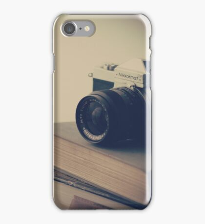 Vintage Camera and Books  iPhone Case/Skin
